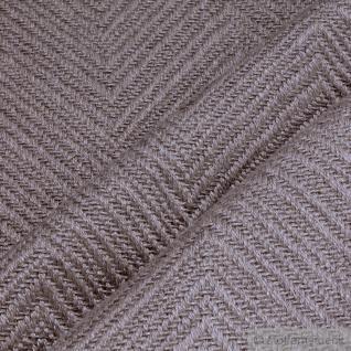 Stoff Leinen Baumwolle Polyester Fischgrat taupe Polster 35.000 Martindale