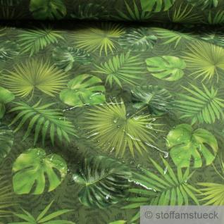 Stoff Polyacryl grün Dschungel Palme Philodendron wasserabweisend outdoor