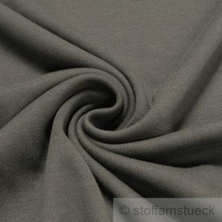 Stoff Baumwolle Interlock Jersey dunkelgrau T-Shirt Tricot weich dehnbar mausgrau
