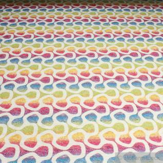 Stoff Baumwolle Polyester Gobelin Regenbogen Labyrinth 280 cm breit farbenfroh