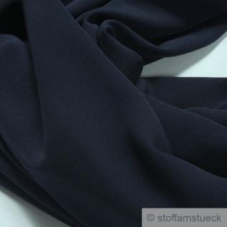 Stoff Polyester Crêpe de Chine leicht dunkelblau knitterarm