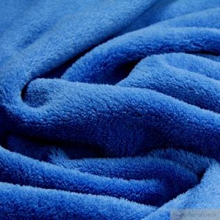 Stoff Polyester Wellness Fleece kobaltblau Kuschelfleece blau - Vorschau 2