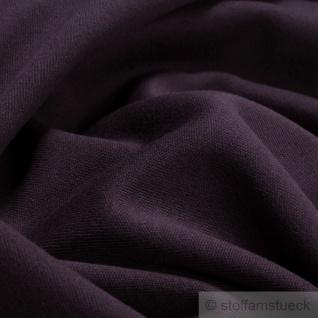 Stoff Baumwolle Interlock Jersey weinrot T-Shirt Tricot weich dehnbar bordeaux - Vorschau 1
