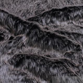 Stoff Polyester Fell Waschbär grau Fellimitat Pelz Webpelz weich edel