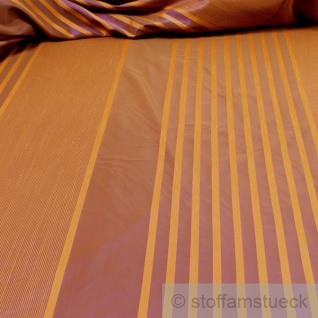 Stoff Trevira® CS Taft Streifen braun ocker 300 cm breit nicht brennbar B1 überbreit