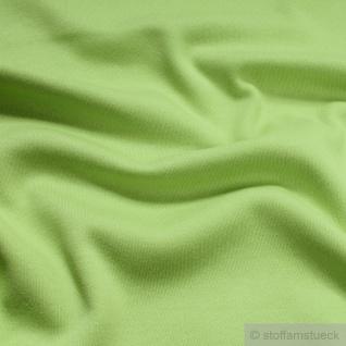 0, 5 Meter Stoff Baumwolle Interlock Jersey hellgrün T-shirt Tricot weich dehnbar - Vorschau 2