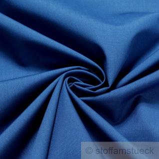 Stoff Baumwolle Polyester Leinwand himmelblau Mischgewebe pflegeleicht blau