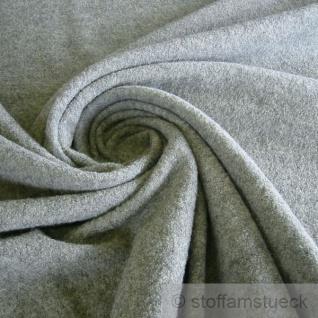 Stoff Wolle Gewirk hellgrau reine Wolle Walk Walkloden Wirkloden grau