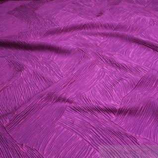 Stoff Polyester Falten Kleidertaft Welle lila violett beidseitig knitterfrei