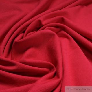 0, 5 Meter Stoff Baumwolle Single Jersey rot angeraut Sweatshirt weich dehnbar