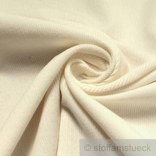 Stoff Baumwolle Cord wollweiß Baumwollstoff Babycord Feincord