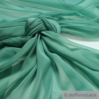 Stoff Polyester Changeant Chiffon türkis transparent sehr leicht weich blau