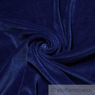 Stoff Baumwolle Polyester Nicki kobaltblau Nicky weich