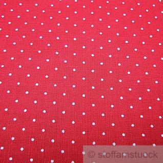 Stoff Baumwolle Punkte ganz klein rot weiß 2, 5 mm Tupfen Pünktchen - Vorschau 2