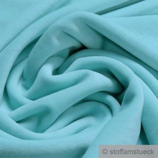 Stoff Baumwolle Polyester Nicki türkis Nicky weich blau