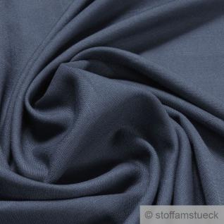 Stoff Polyester Viskose jeansblau Flammgarn weich fließend fallend blau