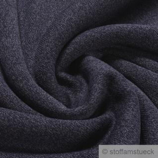 Stoff Polyester Alpenfleece dunkelblau blau meliert kuschelig warm weich