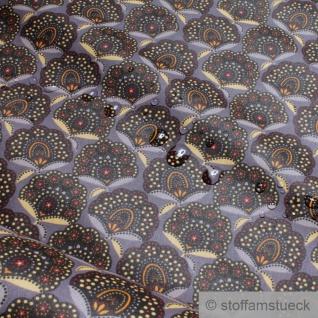 Stoff Baumwolle Acryl taupe Fächer wasserabweisend beschichtet