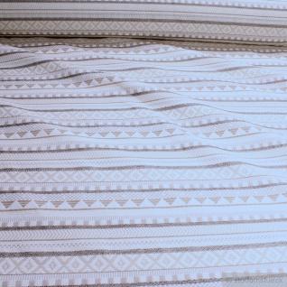 Stoff Baumwolle Polyester Jacquard Streifen beige Geometrie