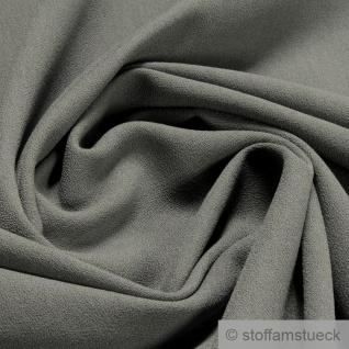 Stoff Polyester Crêpe de Chine mausgrau knitterarm