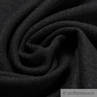 Stoff Wolle Gewirk schwarz reine Wolle Walk Walkloden Wirkloden warm