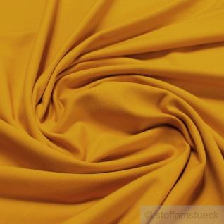 0, 5 Meter Stoff Baumwolle Elastan Single Jersey ocker T-Shirt weich dehnbar senf