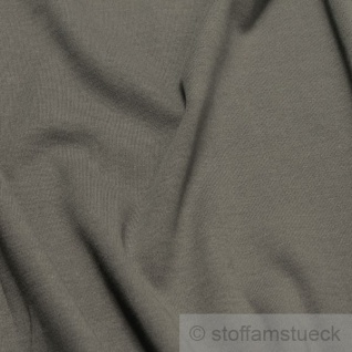 Stoff Baumwolle Interlock Jersey dunkelgrau T-Shirt weich dehnbar mausgrau - Vorschau 2