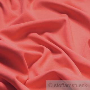 Stoff Baumwolle Interlock Jersey koralle T-Shirt Tricot weich dehnbar
