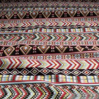 Stoff Baumwolle Polyester Gobelin Inka - Stil 280 cm breit bunt farbenfroh