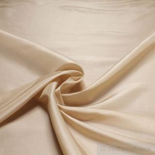 Stoff Polyester Kleidertaft vanille Taft dezenter Glanz