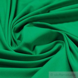 0, 5 Meter Stoff Baumwolle Elastan Single Jersey grün T-Shirt weich grasgrün