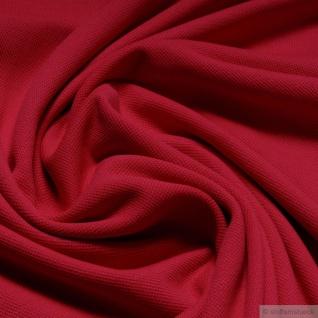 Stoff Baumwolle Piqué Jersey rot Polohemd T-Shirt breit dehnbar weich