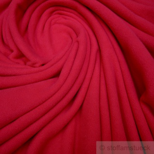 Stoff Polyester Fleece rot warm weich