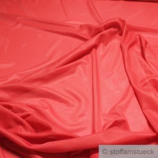2 Meter Stoff Polyamid Futterstoff Gewirk rot Futter weich fließend transparent