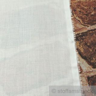 Stoff Baumwolle Batist weiß leicht luftig transparent - Vorschau 2