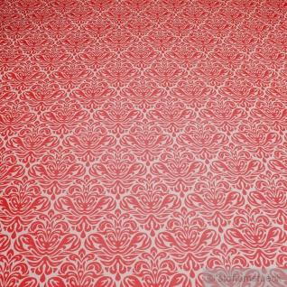 Stoff Baumwolle Acryl Ornament weiß erdbeerrot beschichtet wasserabweisend rot
