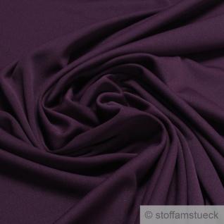 Stoff Polyester Elastan Interlock Jersey violett leicht bi-elastisch