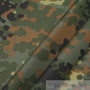 Stoff Baumwolle Polyester Flecktarn Deutschland Camouflage Tarndruck reißfest