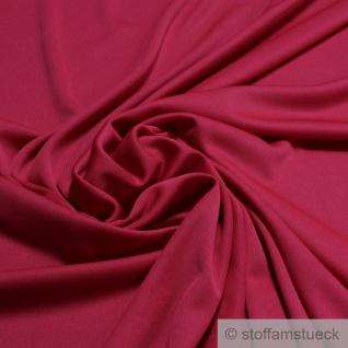 Stoff Polyester Elastan Interlock Jersey kirschrot leicht bi-elastisch