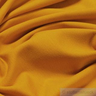 0, 5 Meter Stoff Baumwolle Elastan Single Jersey ocker T-Shirt weich dehnbar senf - Vorschau 2