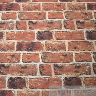 Stoff Baumwolle Polyester Ziegelstein Backstein Klinker Fotodruck