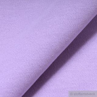 0, 5 Meter Stoff Baumwolle Interlock Jersey flieder T-Shirt Tricot weich dehnbar - Vorschau 3