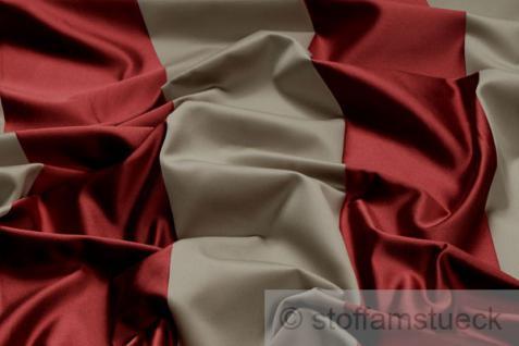 Stoff Baumwolle Seide Satin Blockstreifen beige purpurrot 10.000 Martindale Vorhang