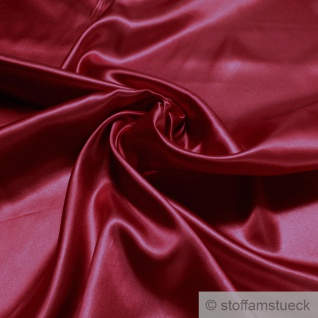 Stoff Polyester Satin kirschrot leicht blickdicht glänzend glatt rot