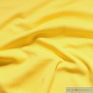 0, 5 Meter Stoff Baumwolle Interlock Jersey gelb T-Shirt Tricot weich dehnbar - Vorschau 2