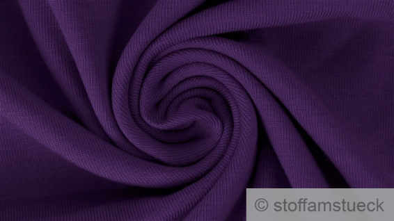 0, 5 Meter Stoff Baumwolle Elastan French Terry lila Sommer Sweat Jersey