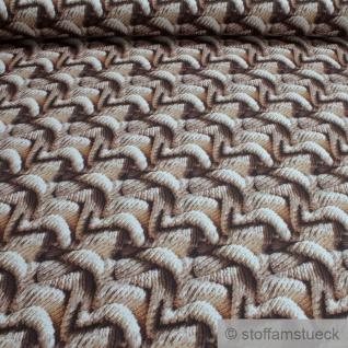 Stoff Baumwolle Rips Strick Strickware Digital Druck