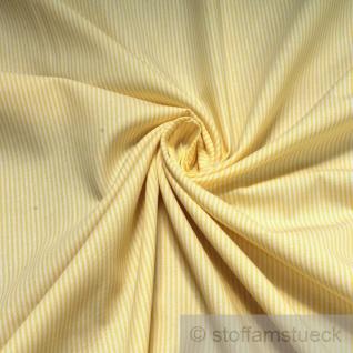 Stoff Baumwolle Zündholzstreifen gelb weiß 1, 5 mm Swafing Caravelle