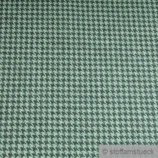 Stoff Schurwolle Polyester Köper Pepita grün mint knitterfrei Hahnentritt - Vorschau 2