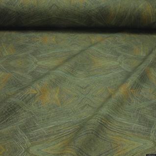 Stoff Baumwolle Rips Fantasy oliv breit Öko-Tex Standard 100 280 cm breit khaki